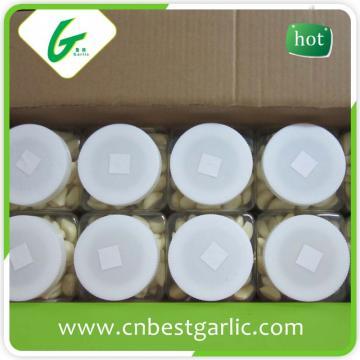 Fresh peeled garlic bag packing