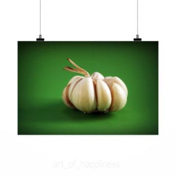 Stunning Poster Wall Art Decor Garlic Meals Seasoning White Clove 36x24 Inches