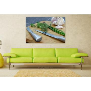 Stunning Poster Wall Art Decor Herbs Rosemary Leek Chives Garlic 36x24 Inches