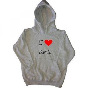 I Love Heart Garlic Kids Hoodie Sweatshirt