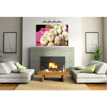 Stunning Poster Wall Art Decor Cloves Of Garlic Market Vegetable 36x24 Inches