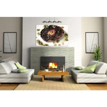 Stunning Poster Wall Art Decor Bbq Portobello Mushroom Garlic Oil 36x24 Inches