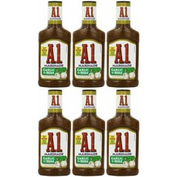NEW A.1. Steak House Marinade Garlic & Herb 16-Ounce Bottles Pack of 6 A1 Kraft