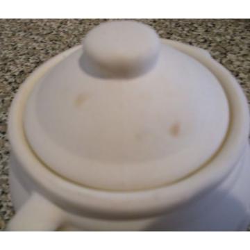 Garlic Jar Keeper White Unglazed Stoneware Ceramic Bisque Holder