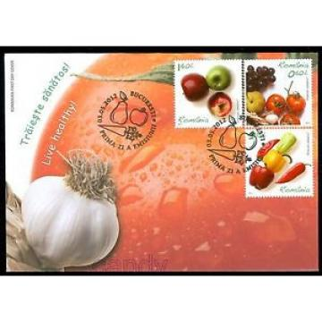 2017 Garlic,Grapes,Tomato,Hot Peppers,Apples,FOOD,Live Healthy,Romania-6621,FDC