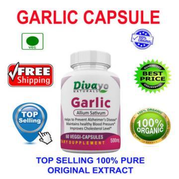 Garlic 500 mg Capsule Herbal Dietary Supplement Capsules Free WorldWide Shipping