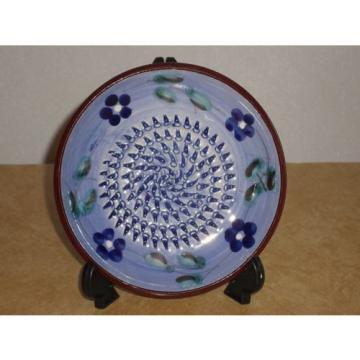 Vintage 1980 Rupi Spain Blue Floral GARLIC GRATER Ceramica Andaluza