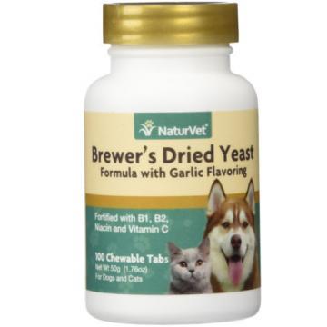 NATURVET DOG BREWER YEAST GARLIC 100 COUNT