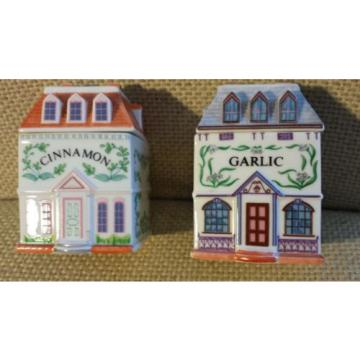 Lenox Spice Village Victorian Houses- Garlic and Cinnamon -1989