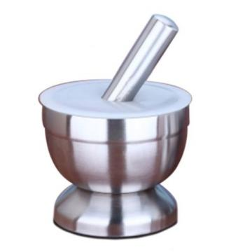 Stainless Steel Garlic Pounder Press big with cover