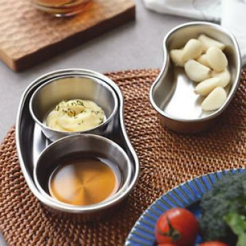 Stainless Steel Mini Oval Bowl for Dipping Sauce Nuts Pickle Olive Garlic