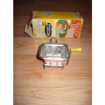 Vintage 1950 Mouli Parsley-Garlic Kitchen Mincer/Steel Construction/Free Ship!