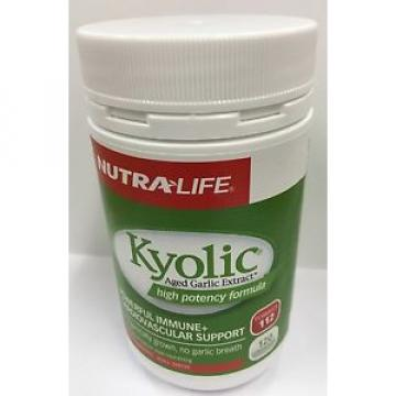 Nutralife Kyolic Aged Garlic Extract High Potency 112 Formula 120 capsules
