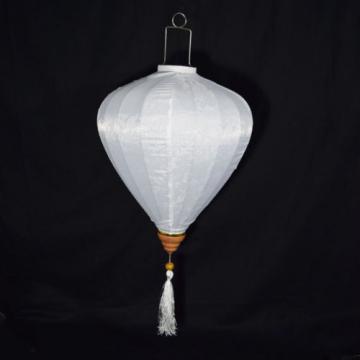 "12"" White Vietnamese Silk Lantern, Garlic Umbrella"