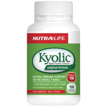 Nutra-Life Kyolic Aged Garlic Extract Original Formula 100 caps / Organic