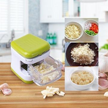VOOKI 3 in 1 Garlic Press Cube, Manual Mandolin Vegetable Slicer with Mini - for