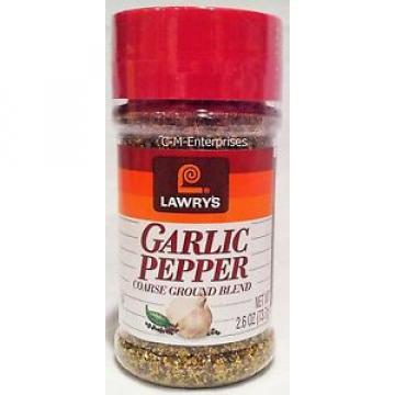 Lawry's Garlic Pepper 2.6 oz Lawrys