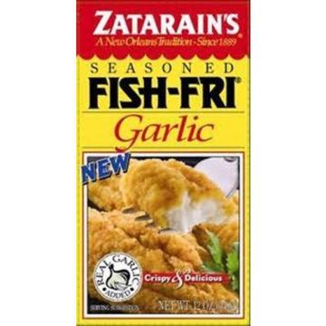 2 PACK ZATARAIN'S GARLIC FISH FRY MIX free new orleans recipe real garlic added