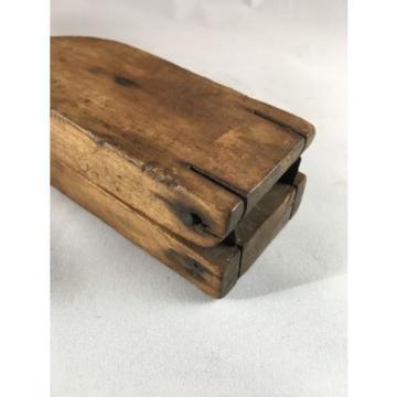 Antique Lemon/Garlic Press Squeezer Juicer Vintage Primitive Wood Kitchen Tool