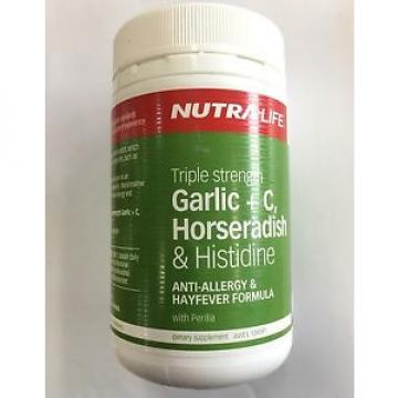 Nutralife Triple strenght Garlic + C, Horseradish & histidine 100caps