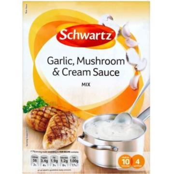 Schwartz Garlic, Mushroom & Cream Sauce Mix (20x26g)