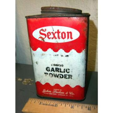 vintage Sexton Coarse Garlic Powder tin, 5.25 x 3.25, great graphics & colors