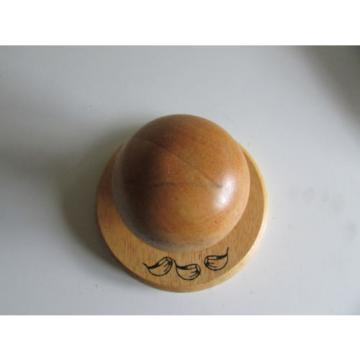 Wooden Garlic Crusher in the Shape of a Mushroom