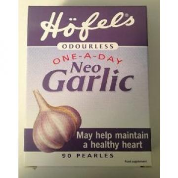 Hofels Odourless One-A-Day Neo Garlic Supplement - 90 Pearles - New