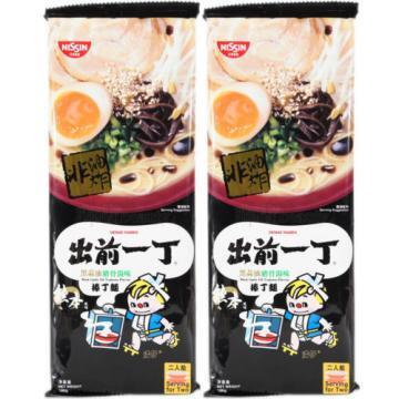 Nissin Japan Demae Ramen Black Garlic Oil Tonkotsu Flavor Instant Noodles (2 pk)