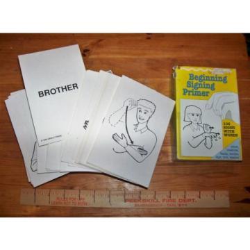 Beginning Sign Language Flash Cards Garlic Press 100 Cards Home School Children