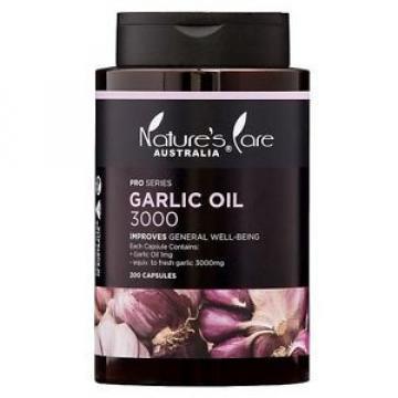 Nature's Care Pro Series Garlic Oil 3000mg 200 Capsules
