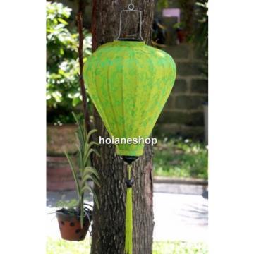 2 x HOI AN silk lanterns 20'' (52 cm) -Lanterns for wedding decor - Green garlic