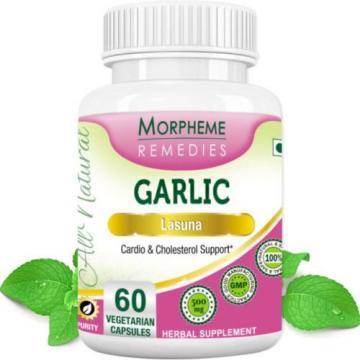 Garlic | Lasuna | Allium Sativum Linn | Morpheme | 60 Vegetarian Capsules| 500mg