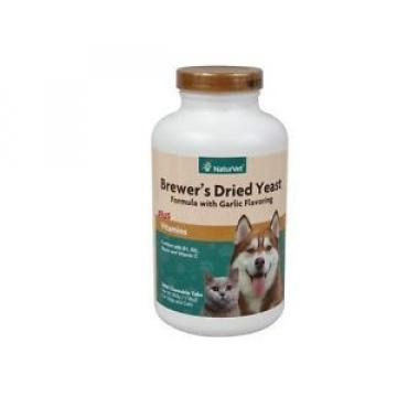 Brewers Yeast & Garlic for Dogs & Cats - 1000 Chewable Tablets - flea anemia