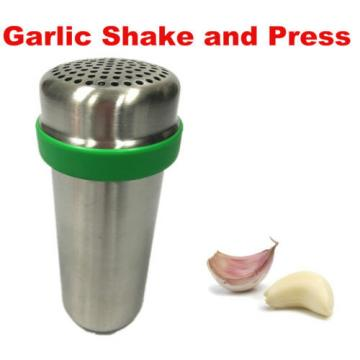 Stainless Steel Garlic Peeler and Presser Garlic Shaker Garlic Crusher 2 in 1