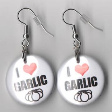 Garlic I Heart Earrings festival dangle I love Garlic