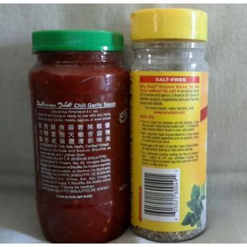 Mrs. Dash Salt-Free Original Blend Seasoning Blend.& Huy Fong Chili Garlic Sauce