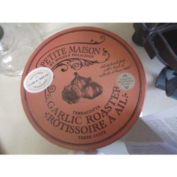 Wildly Delicious cream terracotta large garlic roaster oven microwave bake dish