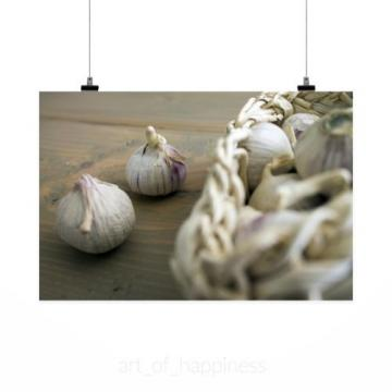 Stunning Poster Wall Art Decor Garlic Food Fresh Vegetable 36x24 Inches