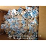 Pure White Chinese Garlic 4.5-5.0cm Packed in Mesh Bag